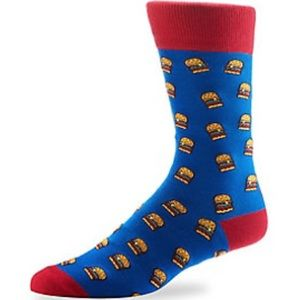 🌺4 Items-25$🌺Men's Socks Hamburger Theme Yo Sox